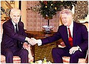 Hafez Assad & Bill Clinton